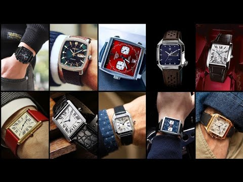 Square Wrist Watch Ideas For Men||Men's Watch Collection||Square Wrist Watch For Men|| Watch