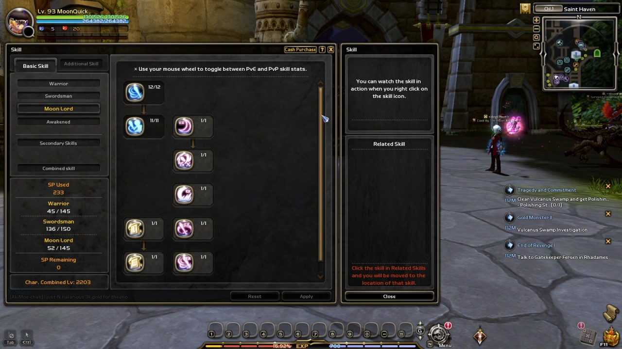 Dn skill build moonlord