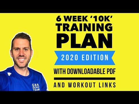 6 Week '10k' Training plan (2020 update downloadable PDF)