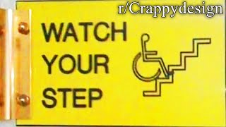 r/Crappydesign | wheelchair up stairs?
