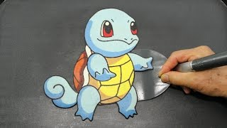 Making Pokémon Squirtle PANCAKE