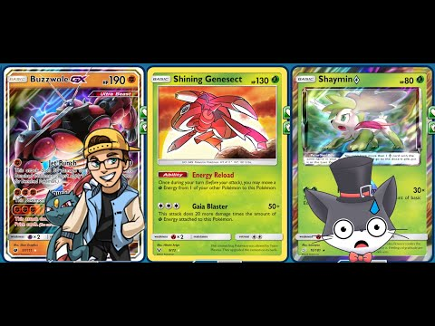 1HKO Shaymin SHINING GENESECT Deck, Tricky Gym GUEST Battle Visit!