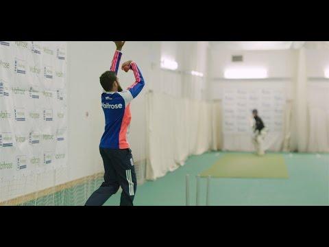 England spin bowler Adil Rashid - how to bowl leg spin