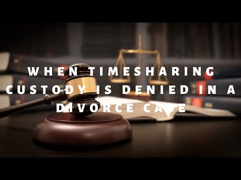 When can timesharing custody be denied in a divorce case in Florida