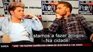 Niall and Liam (One Direction) - Portuguese Interview on SIC