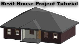 Revit House Project Tutorial For Beginners 2d House Plan And 3d House Model