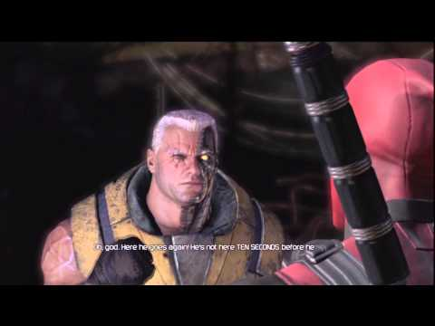 "Cable's Introduction ""Who the Fuck is that song"" [1080p] - Deadpool: The Game"