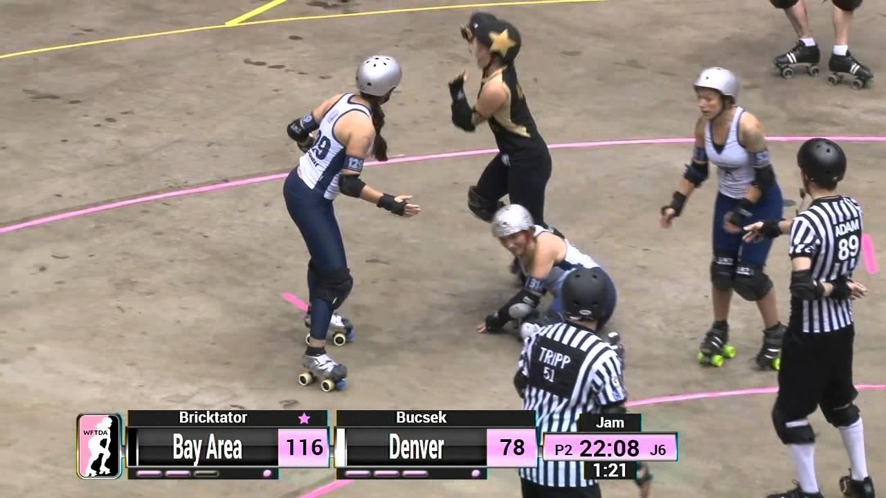 Roller skating denver - Wftda Roller Derby 2014 Championships Bay Area Derby Girls Vs Denver Roller Dolls Youtube