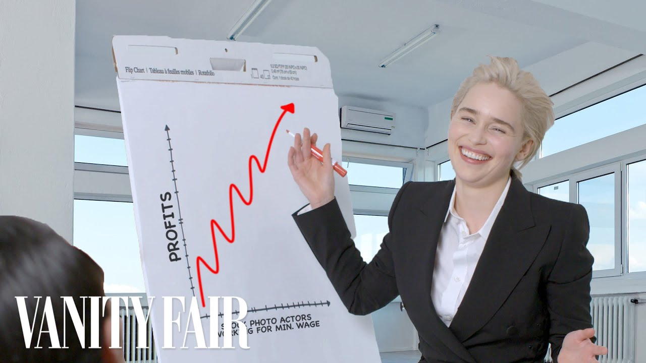 Emilia Clarke Recreates Stock Photos