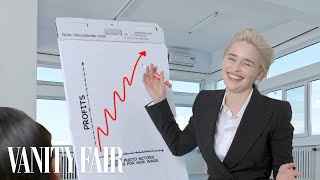Emilia Clarke Re-Creates Workplace Stock Photos | Vanity Fair