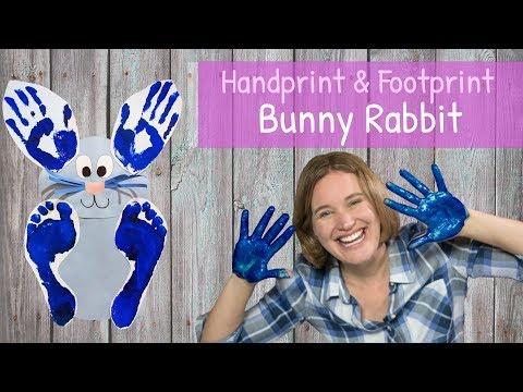 DIY Handprint and Footprint Bunny Rabbit | Craft for Kids