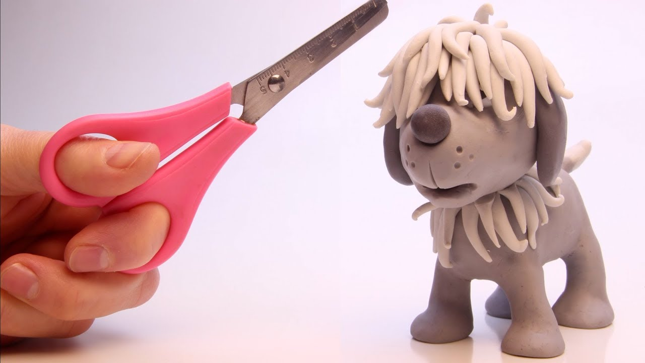 Hairy Puppy needs a hair cut ???? Superhero Play Doh Stop motion cartoons