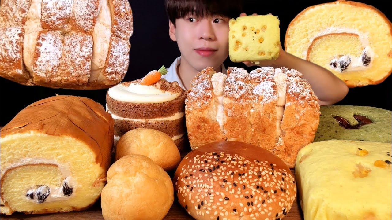 SUB)파리바게트 가을빵 먹방 ASMR(feat.우유 찍먹 장인)🥔🍠🥐 PARISBAGUETTE BREADS MUKBANG