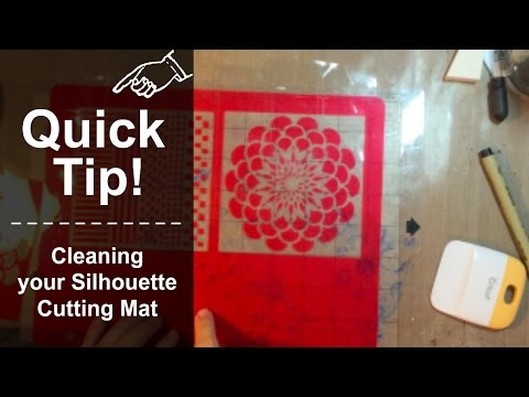 Quick Tip! Cleaning your Silhouette Cutting Mat