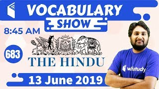 8:45 AM - Daily The Hindu Vocabulary with Tricks (13 June, 2019) | Day #683