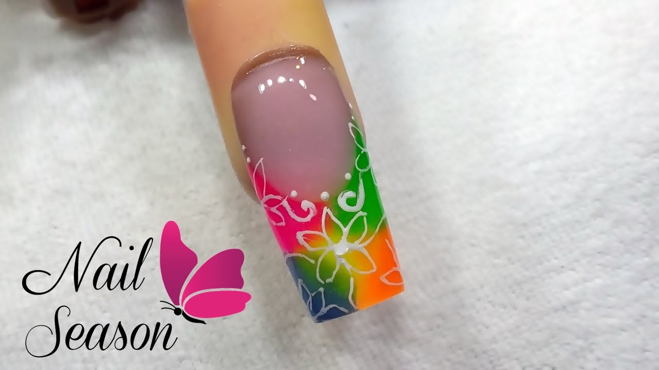 Videos Uñas Acrilicas Decoradas Acrylic Nails Decorated Step By Step How To Make Color Splash 2016