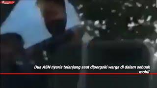 Viral! Dua ASN Nyaris Telanjang Dipergoki Warga Dalam Sebuah Mobil