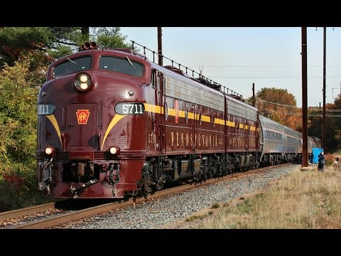 Pennsylvania Railroad E8s on OCS-100 Across Conrail Shared Assets in New Jersey!