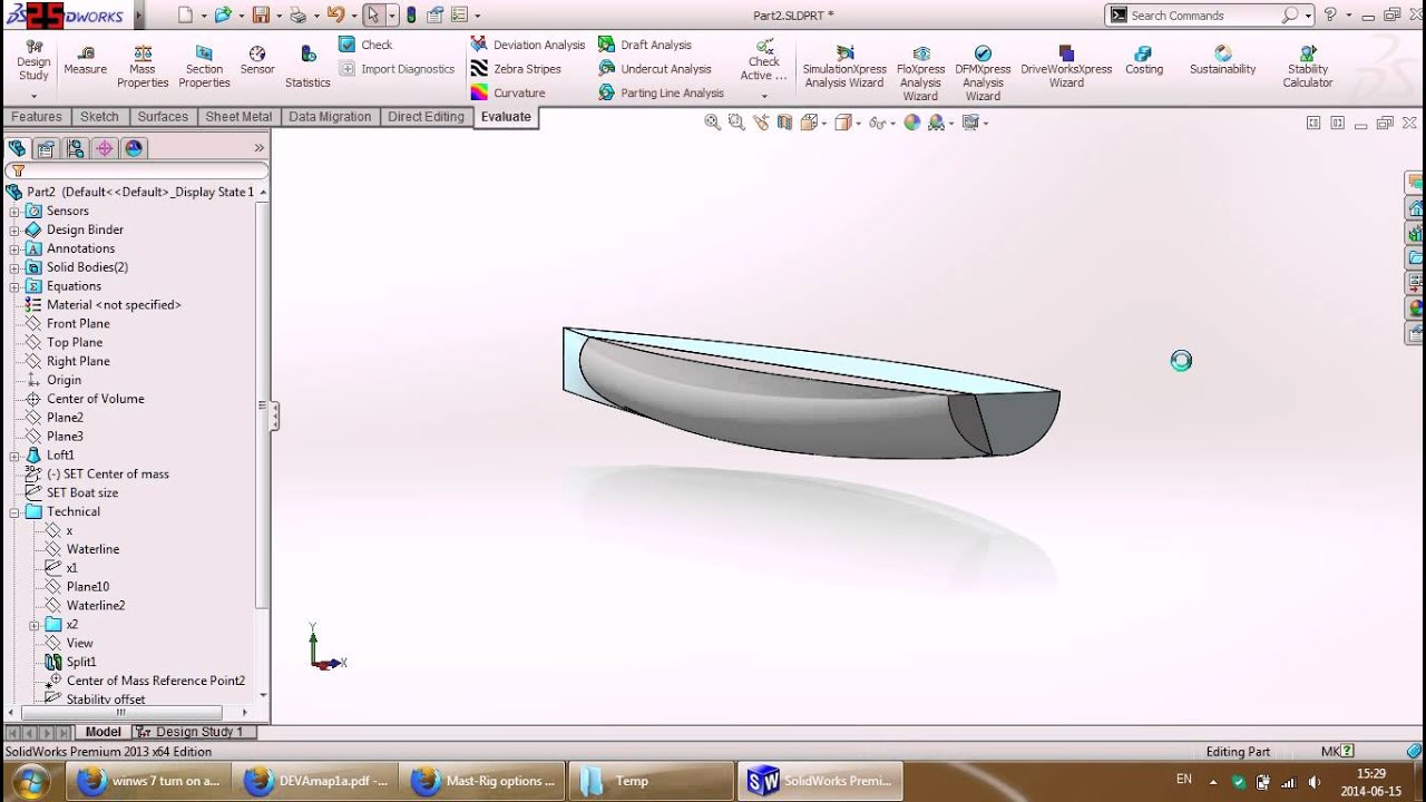 [BETA] Hydrostatic Stability Calculator macro for Solidworks