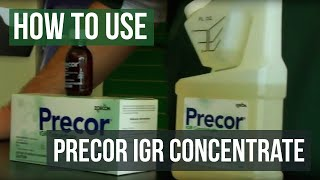 How to use Precor IGR Insect Growth Regulator Flea Spray