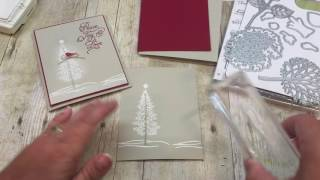 How to Make a Christmas Card with Stampin Up's Thoughtful Branches