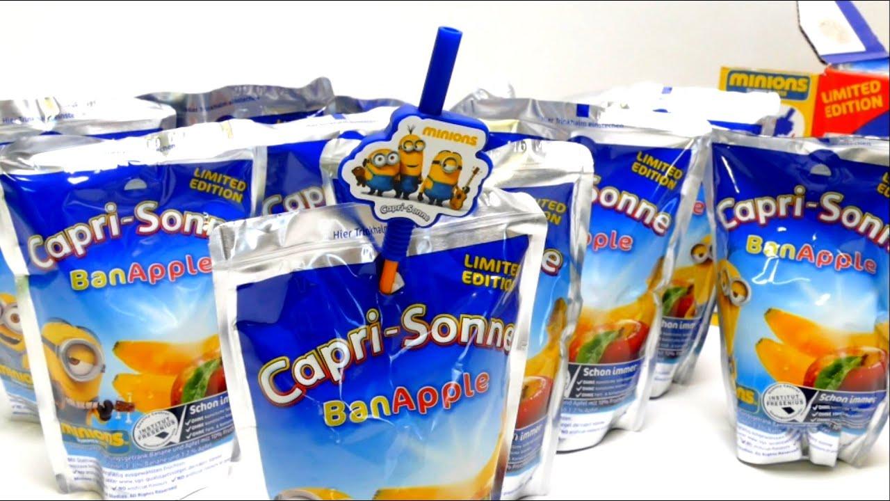 Minions Capri Sun Ban Apple With Special Minion Straws