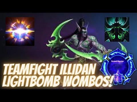 Illidan Metamorphosis - TEAMFIGHT ILLIDAN LIGHTBOMB WOMBO! - Grandmaster Storm League