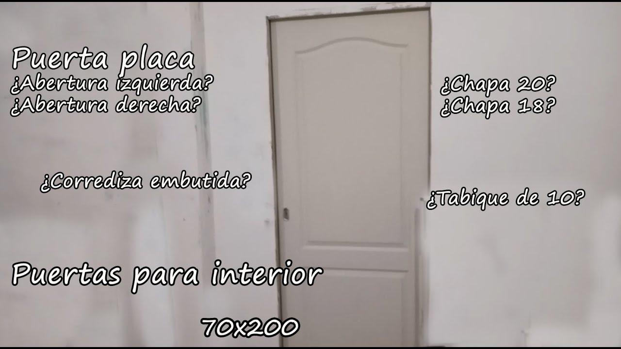 Puertas de interior / Todo lo que tenes que saber/ Tabique / Abertura / puerta placa texturada