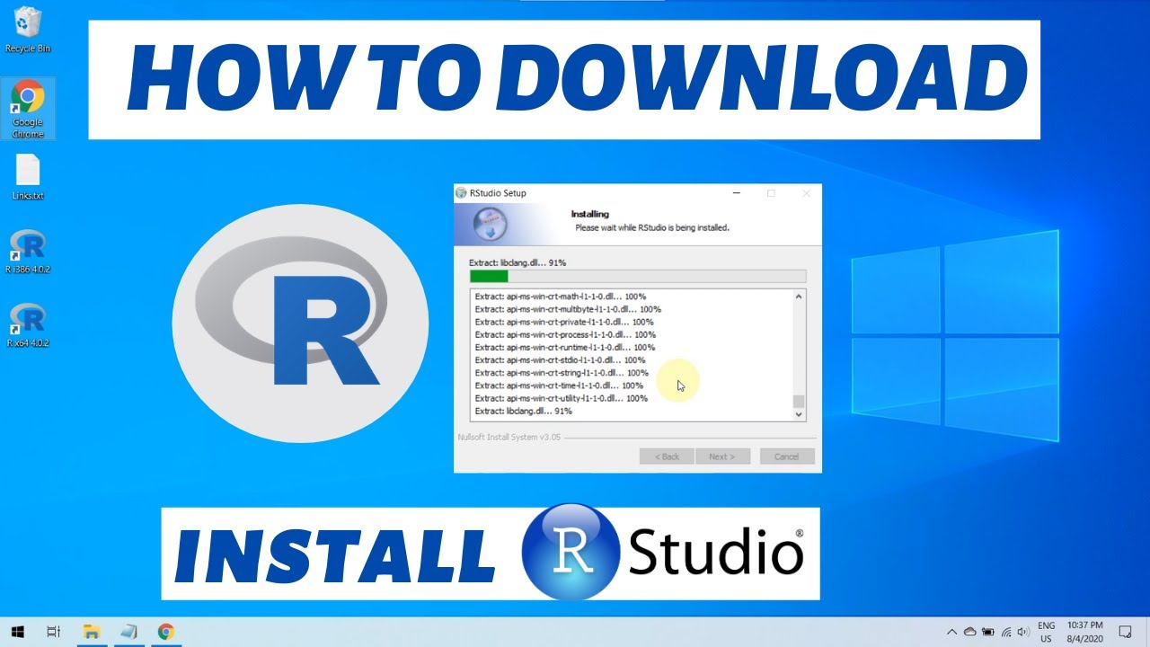 Download How to download R and install Rstudio on Windows 10 2021