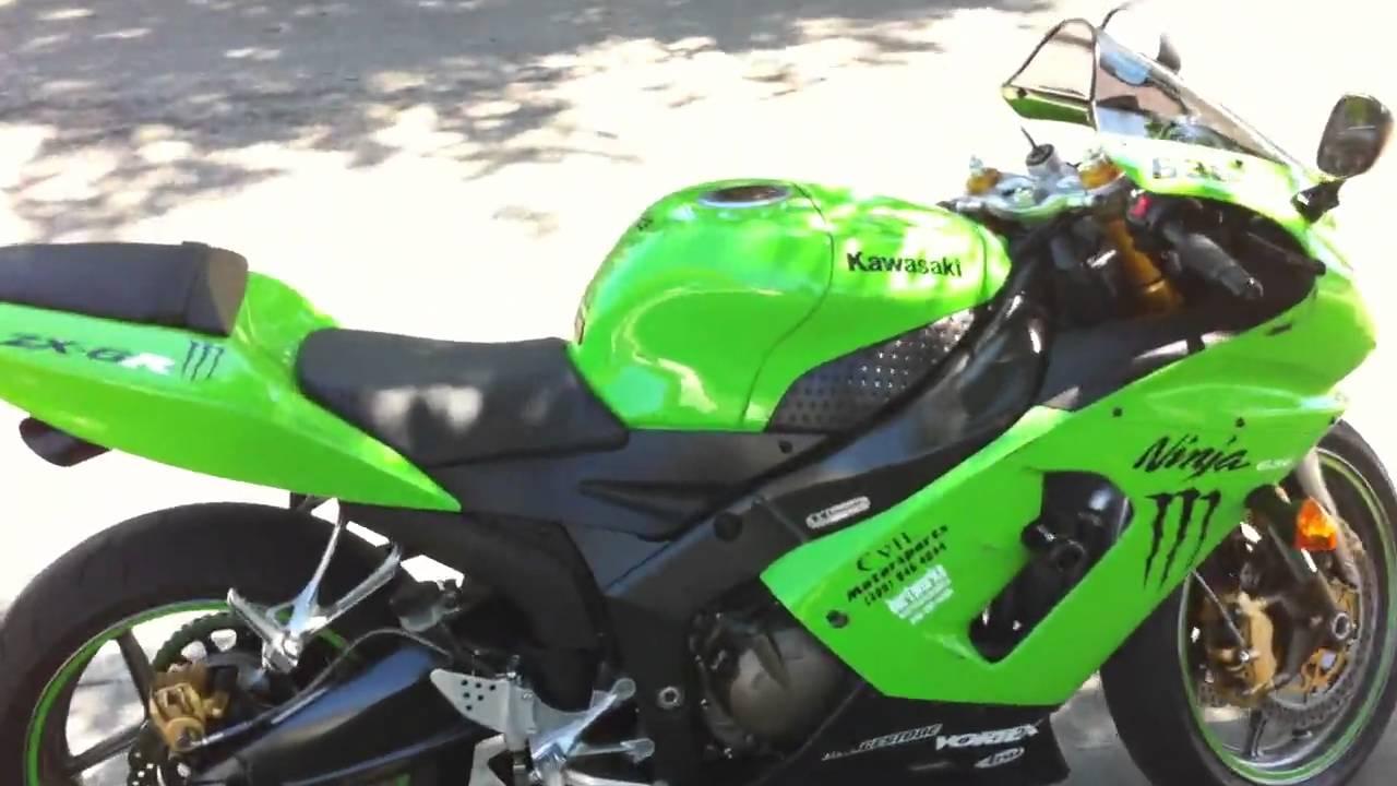 2005 kawasaki ninja zx6r 636 custom exhaust hd youtube. Black Bedroom Furniture Sets. Home Design Ideas