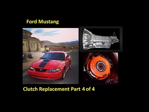 How to change a clutch, flywheel, throw out bearing, pilot bearing : Ford Mustang (part 4 of 4)