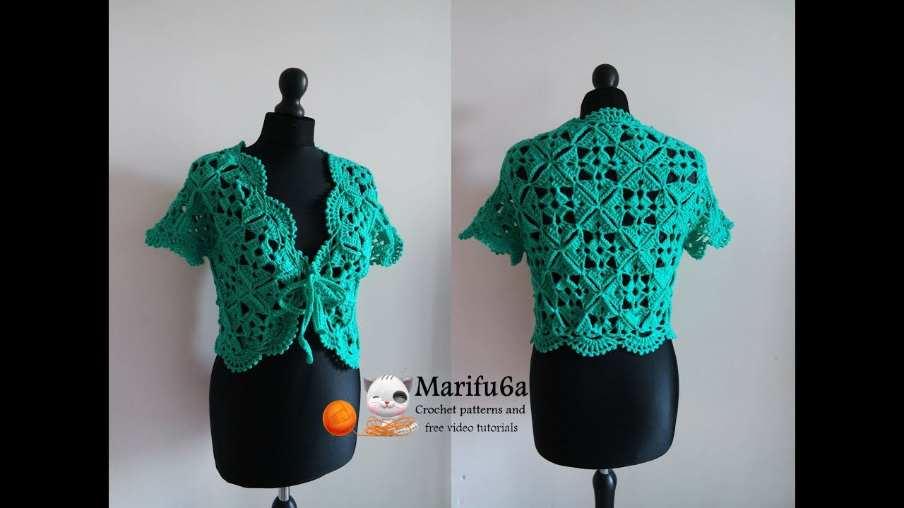 How to crochet bolero shrug with motifs chaleco free pattern how to crochet bolero shrug with motifs chaleco free pattern tutorial by marifu6a youtube bankloansurffo Choice Image