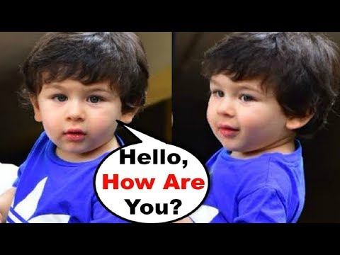 Taimur Ali Khan CUTE Video Saying How Are You To Media
