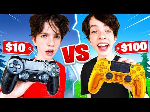 $10 Controller vs $100 Controller Challenge! - Fortnite