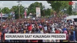 Kerumunan Saat Kunjungan Presiden Jokowi