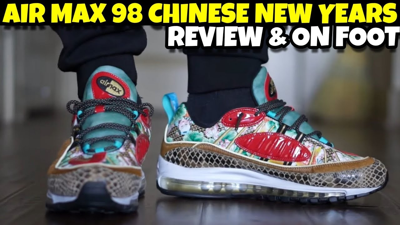 NIKE AIR MAX 98 CHINESE NEW YEARS REVIEW \u0026 ON FOOT - YouTube