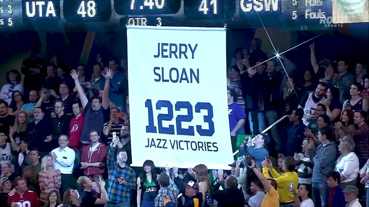 Jazz Nation mourns the loss coach Jerry Sloan Courtesy: Larry H. Miller