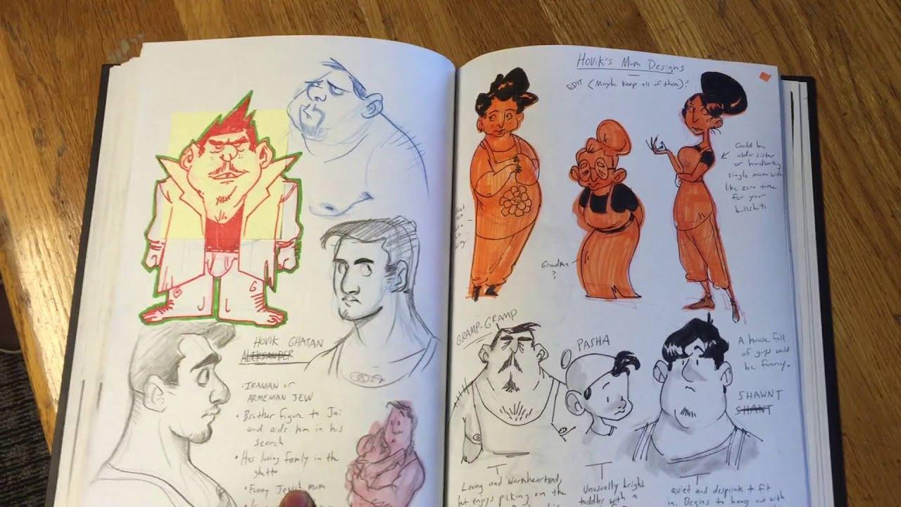 Austin's Calarts Sketchbook 2016 (Rejected)
