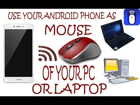 How to control my PC or laptop with Android phone with WiFi mouse App , in  Hindi |