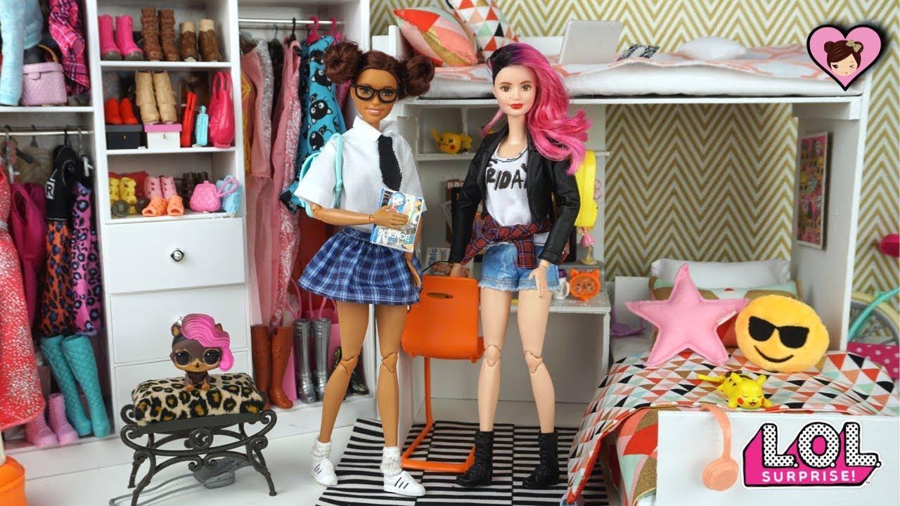 Download Barbie School Morning Routine - LOL Surprise Custom DIY Teen Dolls