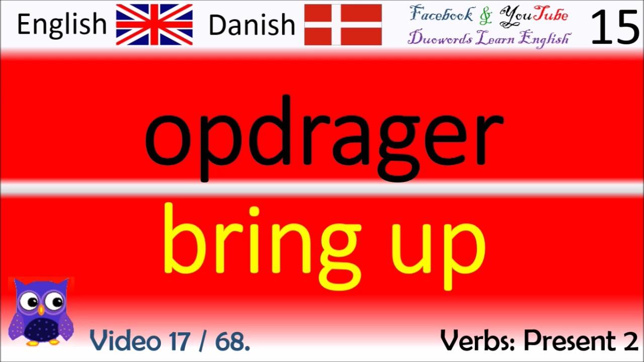 17 Verbs Present 2 Dansk - Engelsk Ord / Danish - English Words engelsk kursus