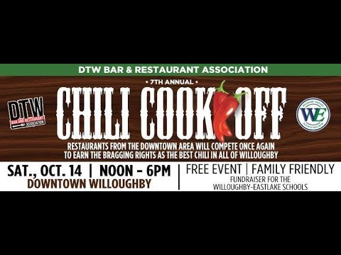 Chili Cook Off 2017 Downtown Willoughby Youtube