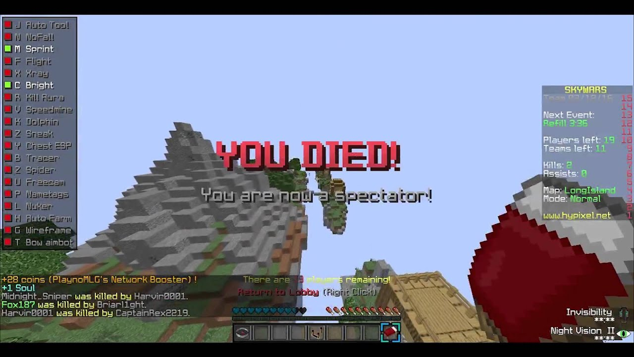 Minecraft: HOW TO INSTALL HUZINI HACKED CLIENT 3 5 YouTube