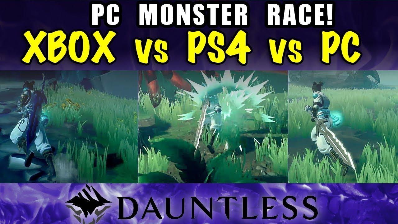 PC Monster Race! - PS4 vs XBOX vs PC - DAUNTLESS