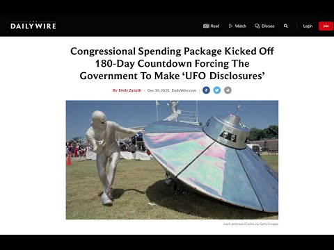 TOP 10 UFO Disclosures in the News of 2020