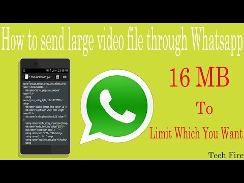 How To Send Large Video File From WhatsApp 2015!