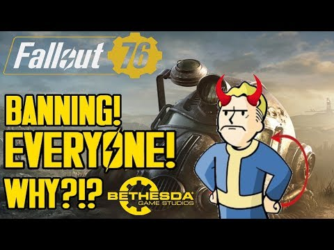 FALLOUT 76 - BETHESDA BANNING NEW PLAYERS?! BANNING EVERYONE IN FALLOUT 76?! LVL 400's opinion/Rant thumbnail