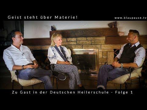 Geist steht ueber Materie Energieheilkunde der neuen Zeit mit der Heilerakademie  blaupause