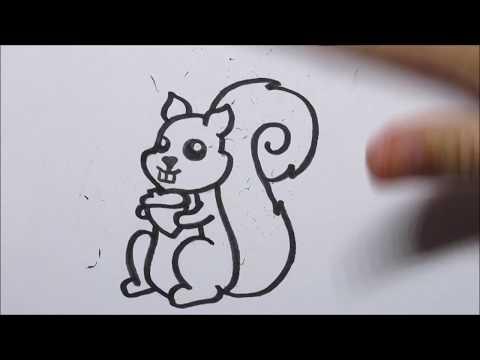 Welp 🐿 Zo teken je een cartoon eekhoorn! (In stappen) - YouTube FS-53