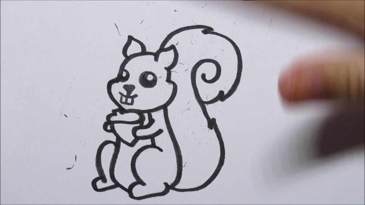 Zo Teken Je Een Cartoon Eekhoorn In Stappen Youtube